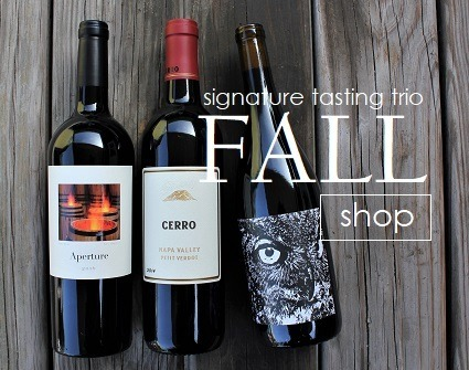 FALL | Signature Tasting Trio features 3 wines for $98